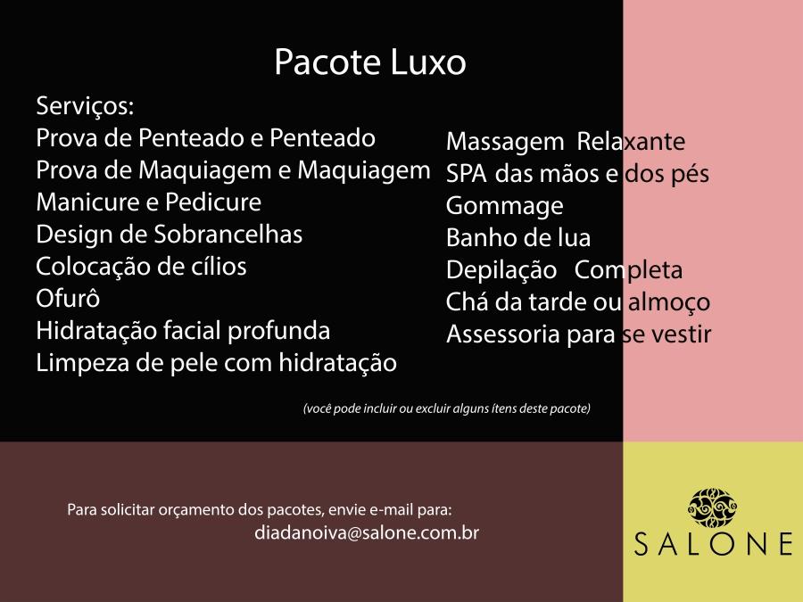 page pacote dia da noiva Luxo
